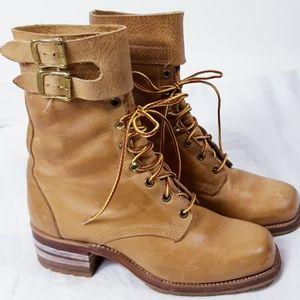 Vibram Square Toed Leather Workboots